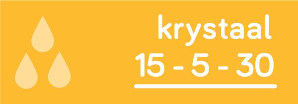 Krystaal 15-5-30