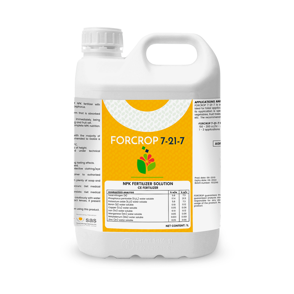 Forcrop 7-21-7 - Productos - FORCROP - SAS
