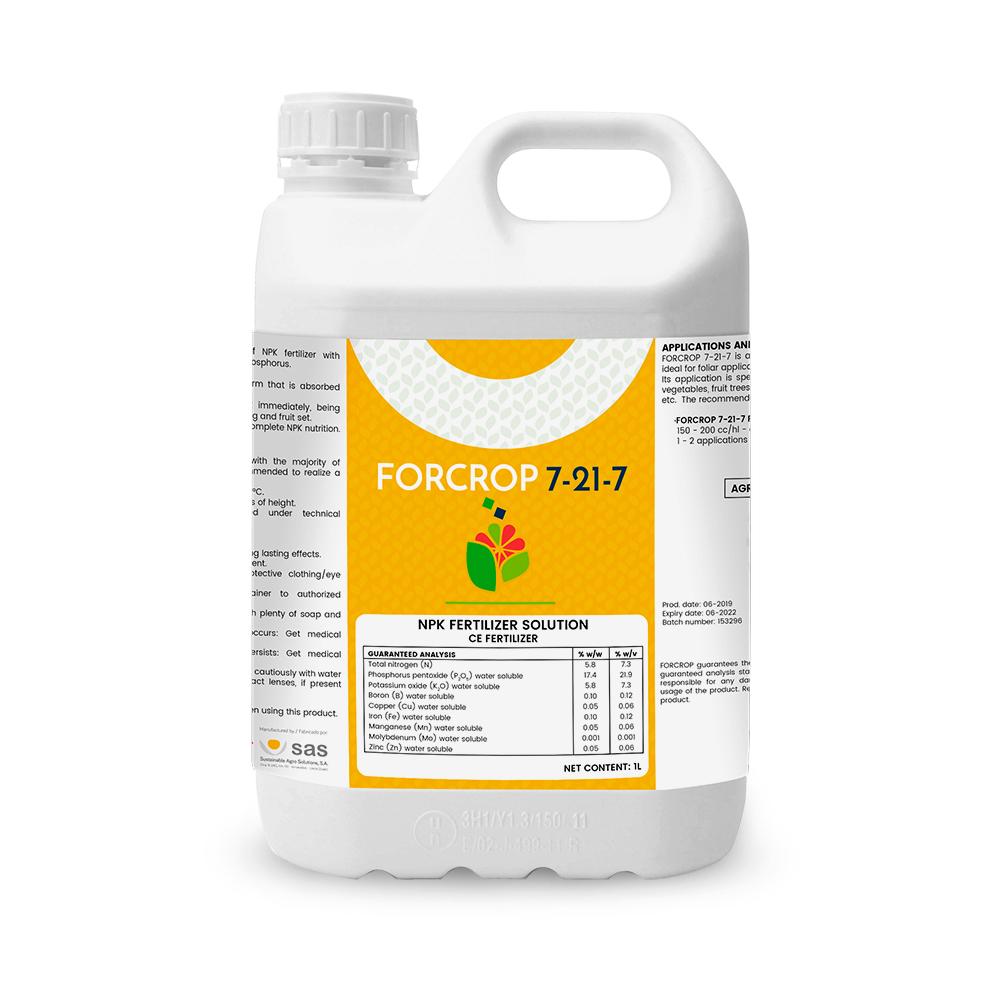Forcrop 7-21-7 - Productos - FORCROP - SAS