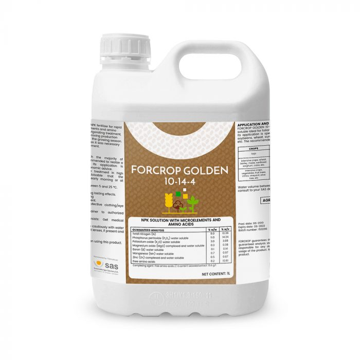 Forcrop Golden 10-14-4 - Productos - FORCROP - SAS