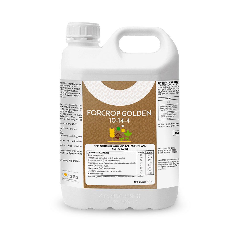 Forcrop Golden 10-14-4 - Productos - FORCROP - SAS