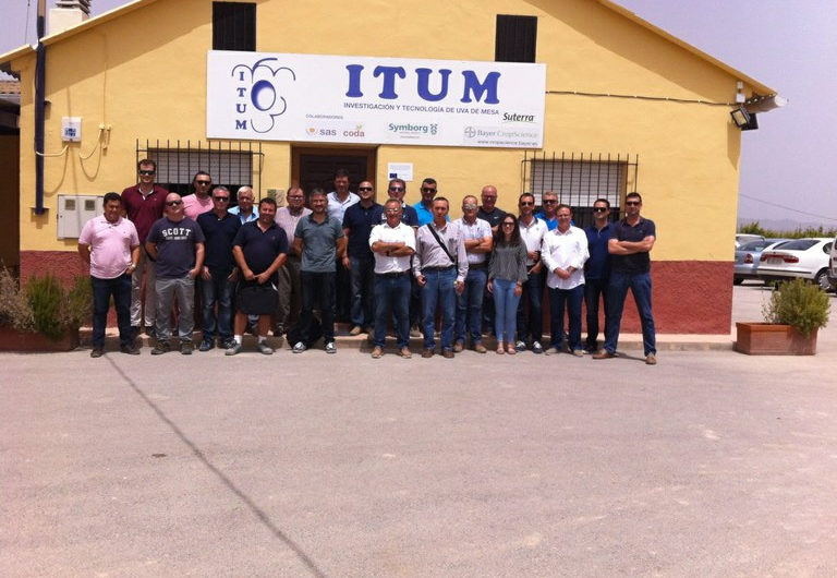 ITUM-SAS seminar on nutrition in table grapes, celebrating 10 years of cooperation and presentation of foliar and root applications in table grapes to companies associates to ITUM