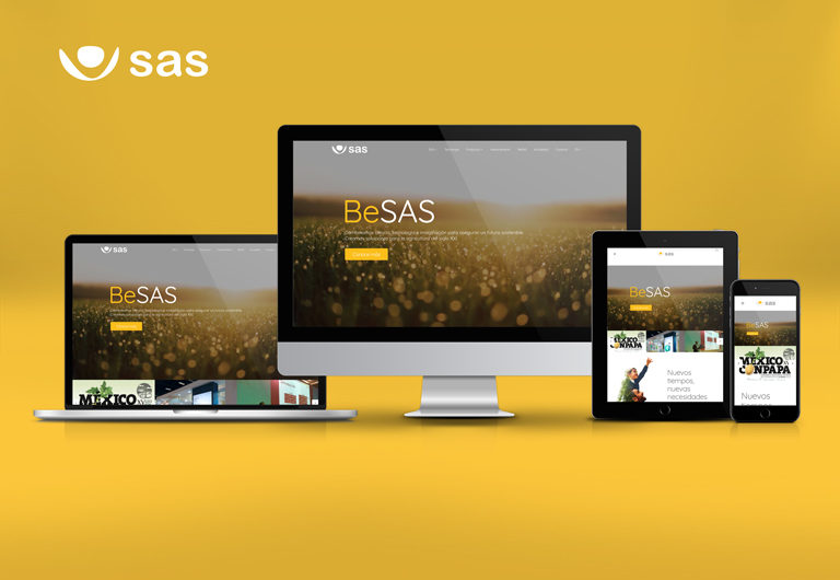 Presentación de la nueva web corporativa SAS
