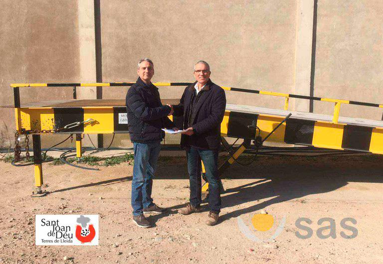 SAS cedes its loading dock to the Sant Joan de Déu center